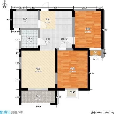 金业观湖大第2室0厅1卫1厨92.00㎡户型图