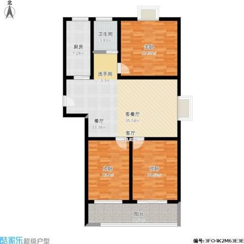 盛祥佳苑3室1厅1卫1厨144.00㎡户型图