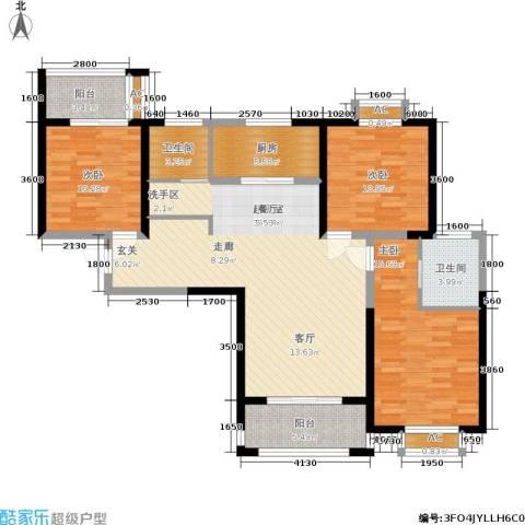 九鼎城3室0厅2卫1厨138.00㎡户型图