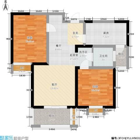 九鼎城2室0厅1卫1厨95.00㎡户型图