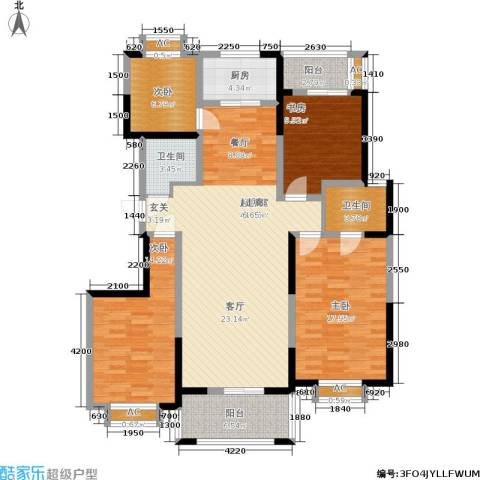 九鼎城4室0厅2卫1厨150.00㎡户型图