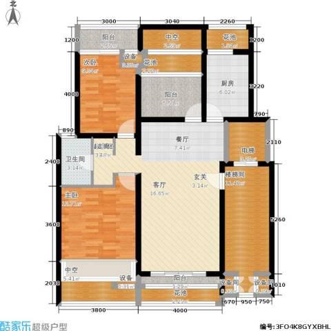 卓信龙岭2室0厅1卫1厨155.00㎡户型图