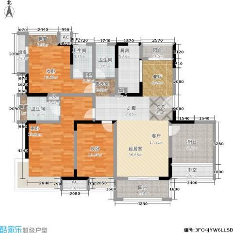 巴黎春天3室0厅3卫1厨145.00㎡户型图