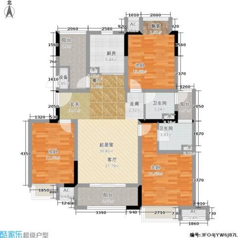 巴黎春天3室0厅2卫1厨116.00㎡户型图