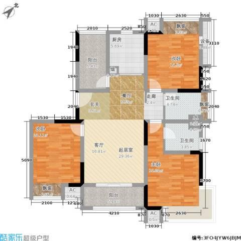巴黎春天3室0厅2卫1厨118.00㎡户型图