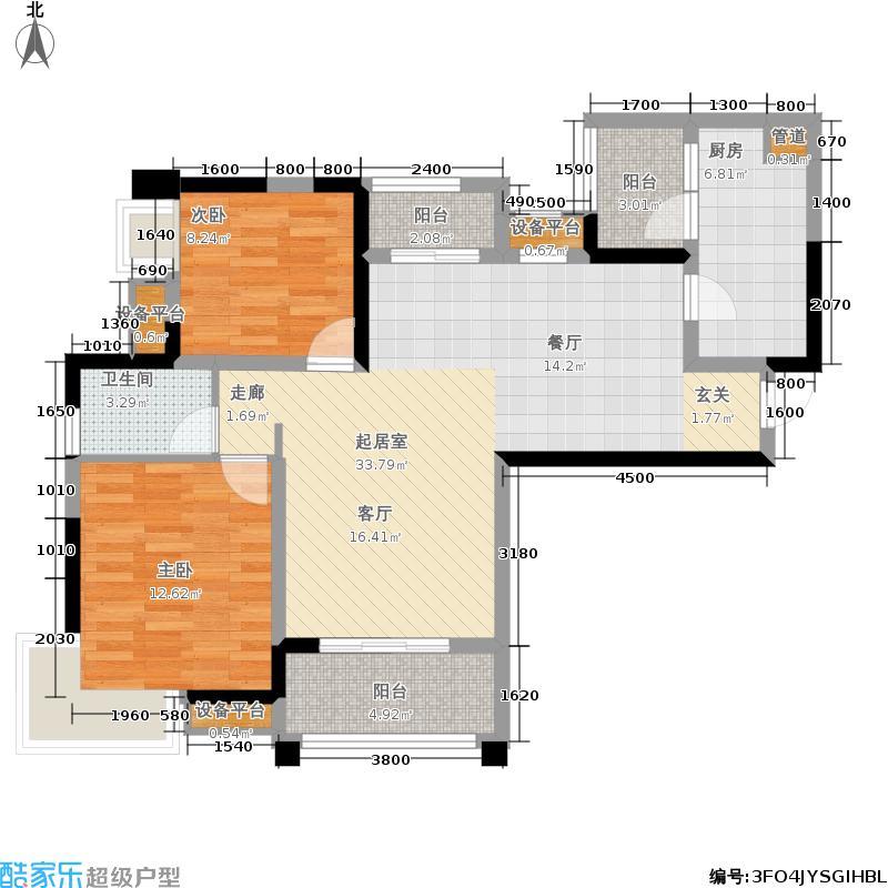 东原D7区81.19㎡四期7号楼标准层4号房户型