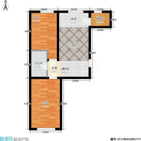 博达英郡2室0厅1卫0厨74.00㎡户型图