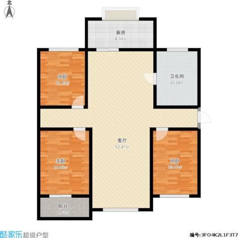 紫阙台3室1厅1卫1厨158.00㎡户型图