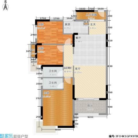 江与城3室0厅2卫1厨121.00㎡户型图