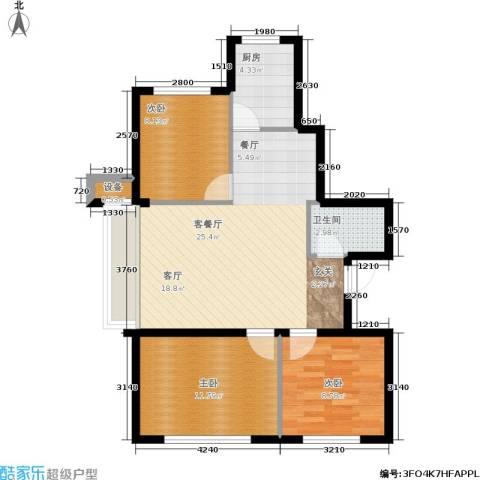 东升御景苑二期3室1厅1卫1厨98.00㎡户型图