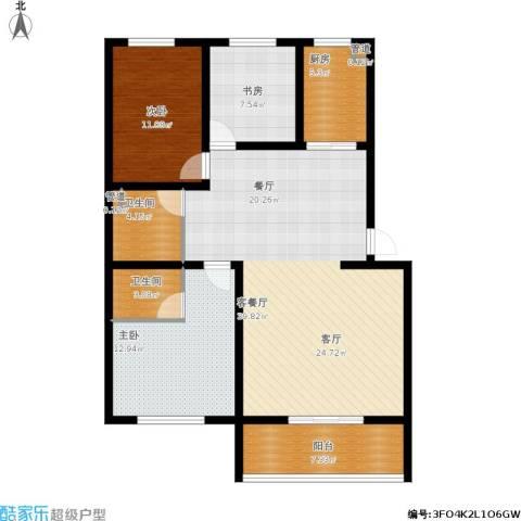 尚城花墅3室1厅2卫1厨131.00㎡户型图