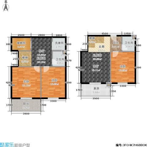 尚东国际城3室0厅2卫1厨102.33㎡户型图