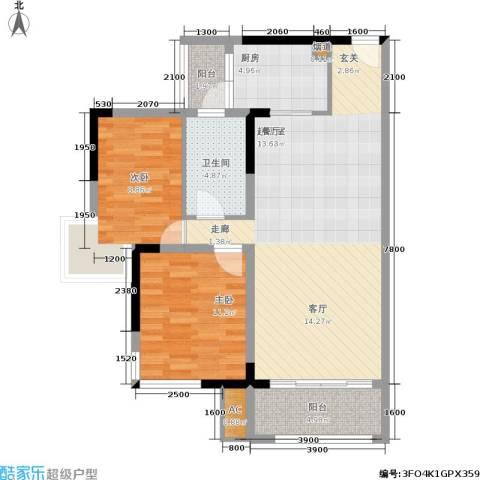江与城2室0厅1卫1厨89.00㎡户型图
