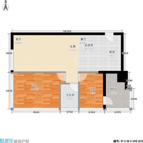 时代中心2室0厅1卫0厨98.00㎡户型图