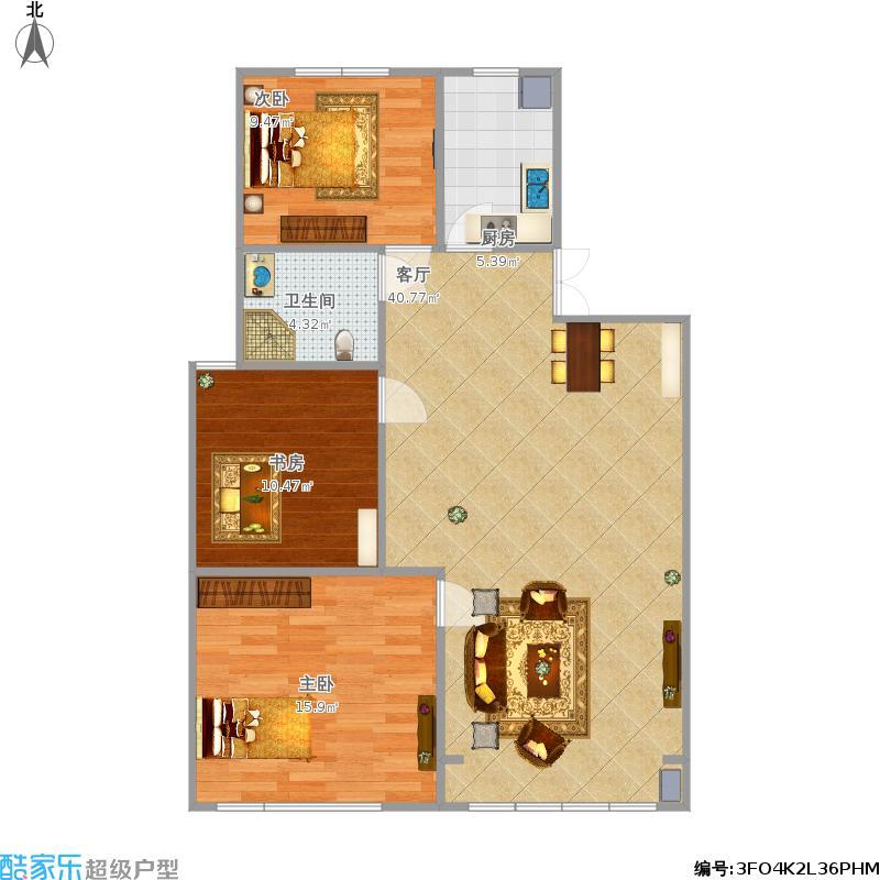 凤舞明珠A1三室两厅