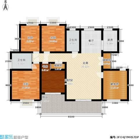 丽湾岛4室0厅2卫1厨183.00㎡户型图