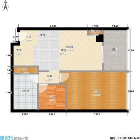 时代中心2室0厅1卫0厨93.00㎡户型图