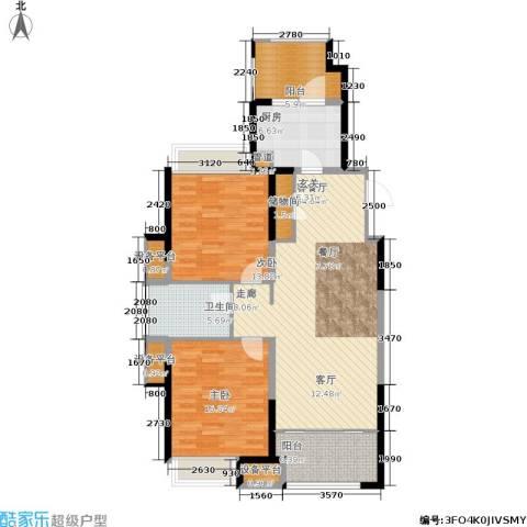 嘉实上城名都2室1厅1卫1厨105.00㎡户型图