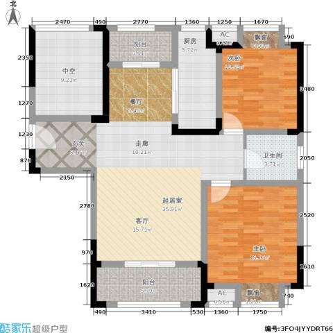 金尧首府2室0厅1卫1厨105.00㎡户型图
