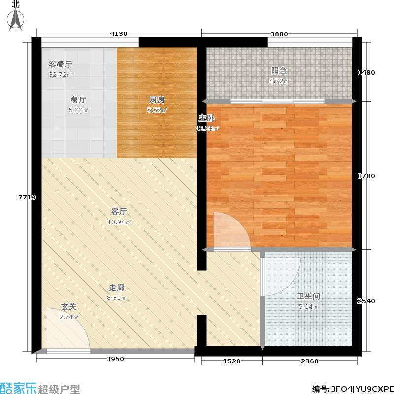 蓝天商业中心60.38㎡单身公寓-02户型