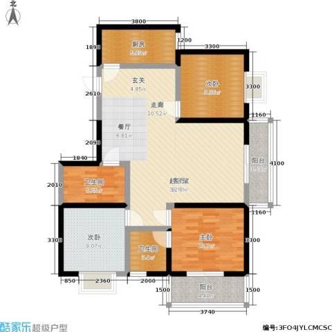 格兰逸境3室0厅2卫1厨122.00㎡户型图