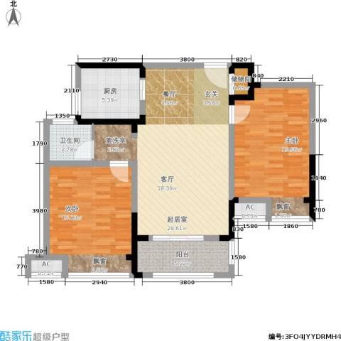 金尧首府2室0厅1卫1厨88.00㎡户型图