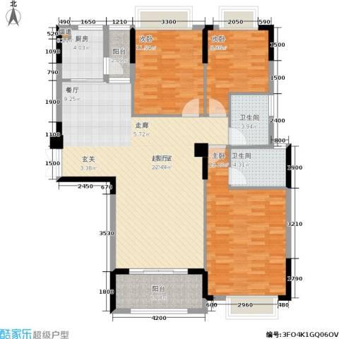 江与城3室0厅2卫1厨131.00㎡户型图
