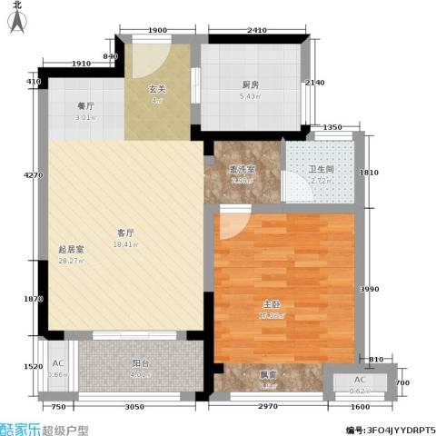 金尧首府1室0厅1卫1厨66.00㎡户型图