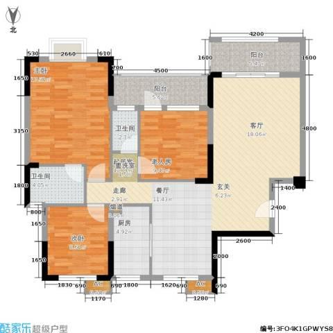 江与城3室0厅2卫1厨124.00㎡户型图