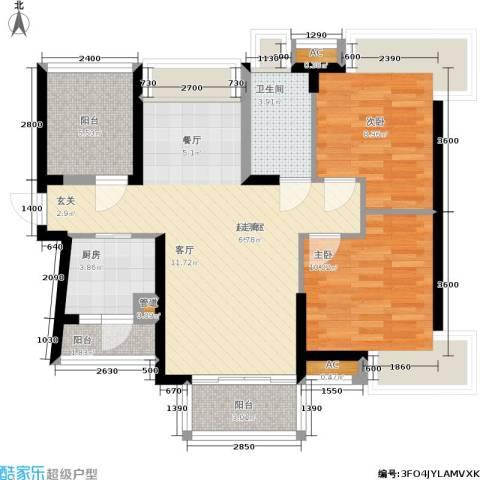 安鸿景苑2室0厅1卫1厨75.88㎡户型图