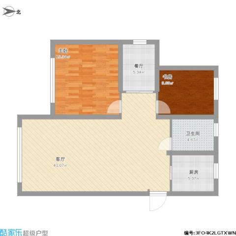 格林英郡2室2厅1卫1厨114.00㎡户型图