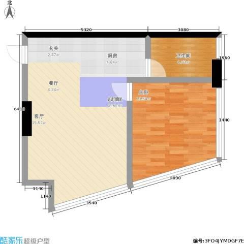 帝都大公馆1室0厅1卫0厨74.00㎡户型图