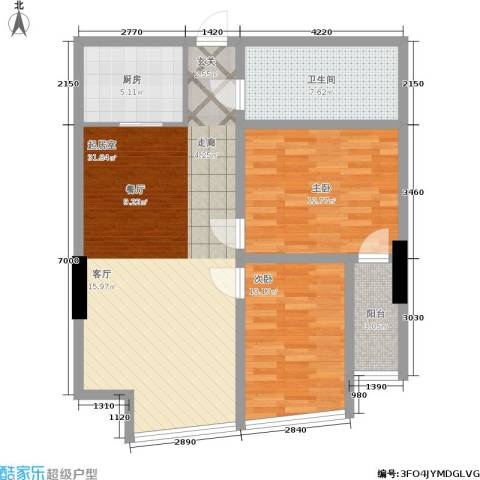 帝都大公馆2室0厅1卫1厨103.00㎡户型图