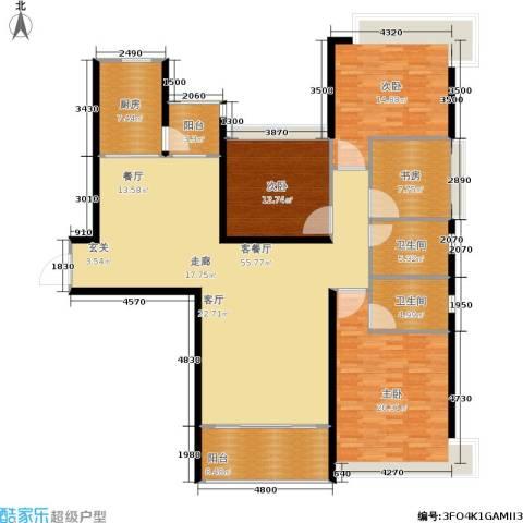 恒大名都4室1厅2卫1厨155.00㎡户型图