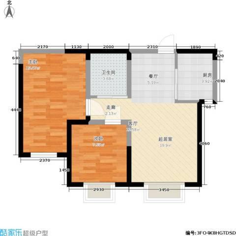 渤海山水云天2室0厅1卫1厨69.00㎡户型图