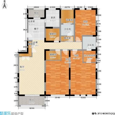 浦江颐城晶寓3室0厅2卫1厨170.00㎡户型图