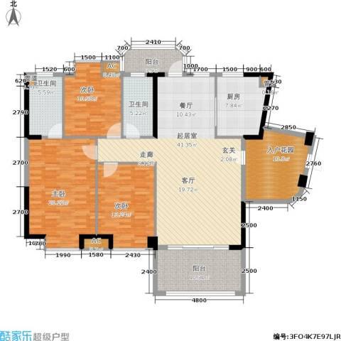 景源公园一号3室0厅2卫1厨183.00㎡户型图