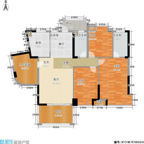 景源公园一号3室0厅2卫1厨177.00㎡户型图