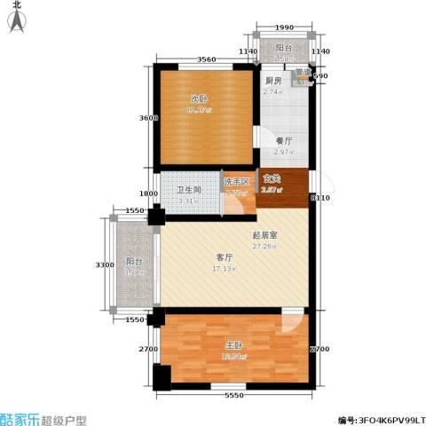 金豪斯经典二期2室0厅1卫0厨88.00㎡户型图