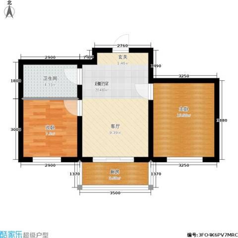 金豪斯经典二期2室0厅1卫1厨62.00㎡户型图