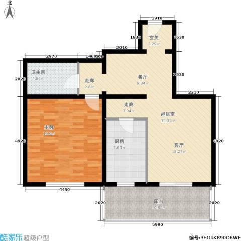 幸福二村1室0厅1卫1厨108.00㎡户型图