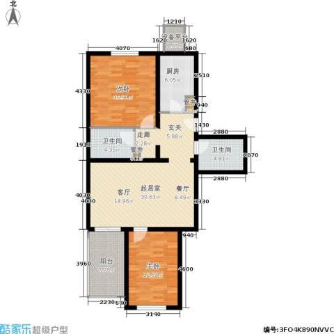 幸福二村2室0厅2卫1厨120.00㎡户型图