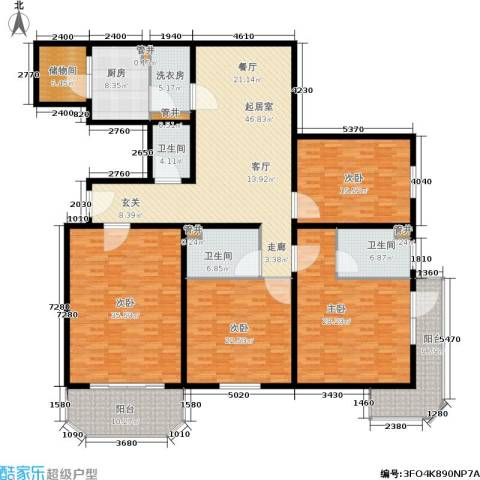 幸福二村4室0厅3卫1厨235.00㎡户型图