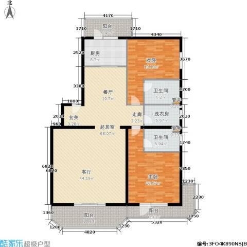 幸福二村2室0厅2卫1厨180.00㎡户型图