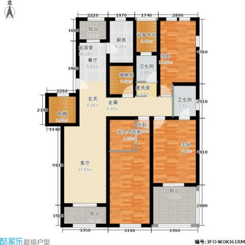 浦江颐城晶寓3室0厅2卫1厨147.00㎡户型图