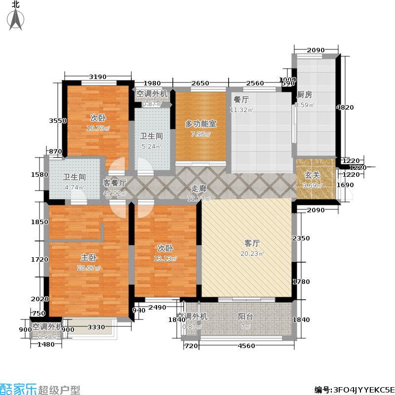 中海凤凰熙岸145.00㎡二期12幢3-31层B3户型