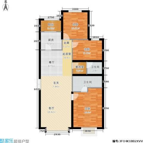 维多利亚广场3室0厅2卫1厨134.00㎡户型图