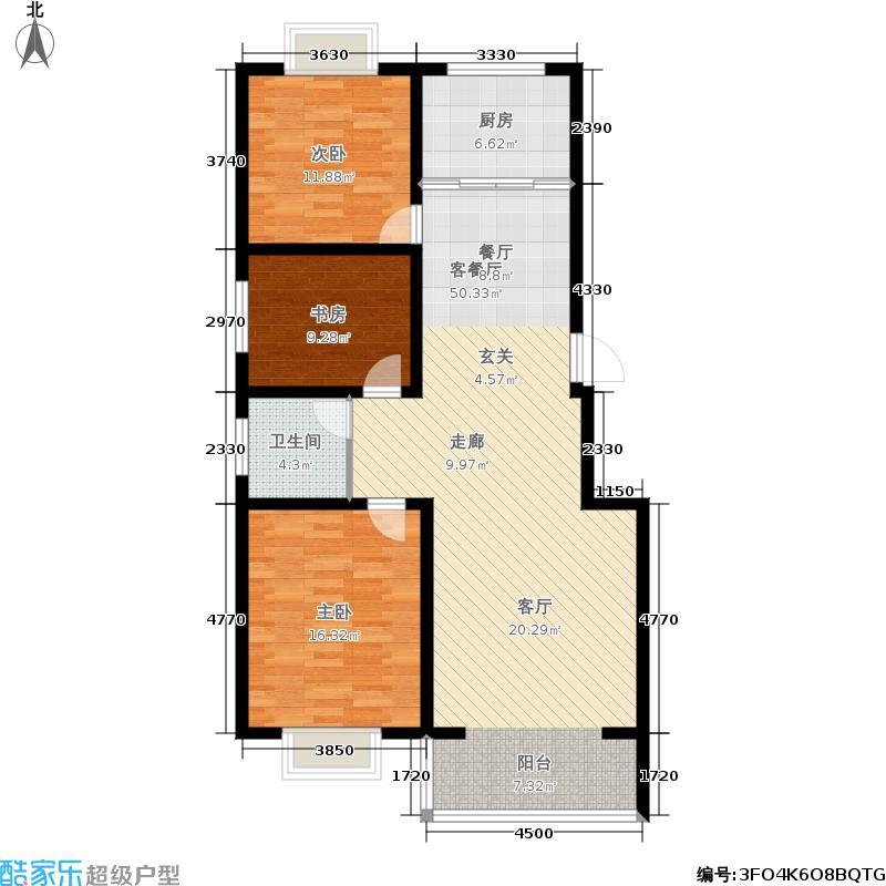 盛世新东城111.00㎡D户型3室2厅1卫