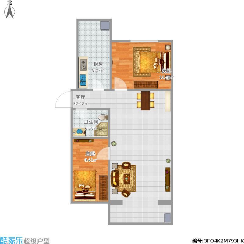 首座御园92方两室一厅