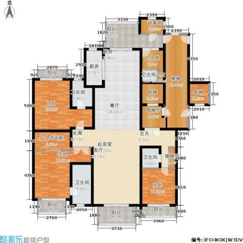 上海星河湾3室0厅4卫1厨248.00㎡户型图